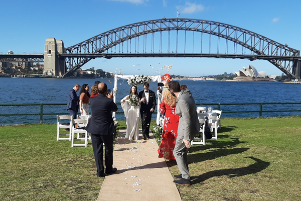 Blues Point Reserve wedding